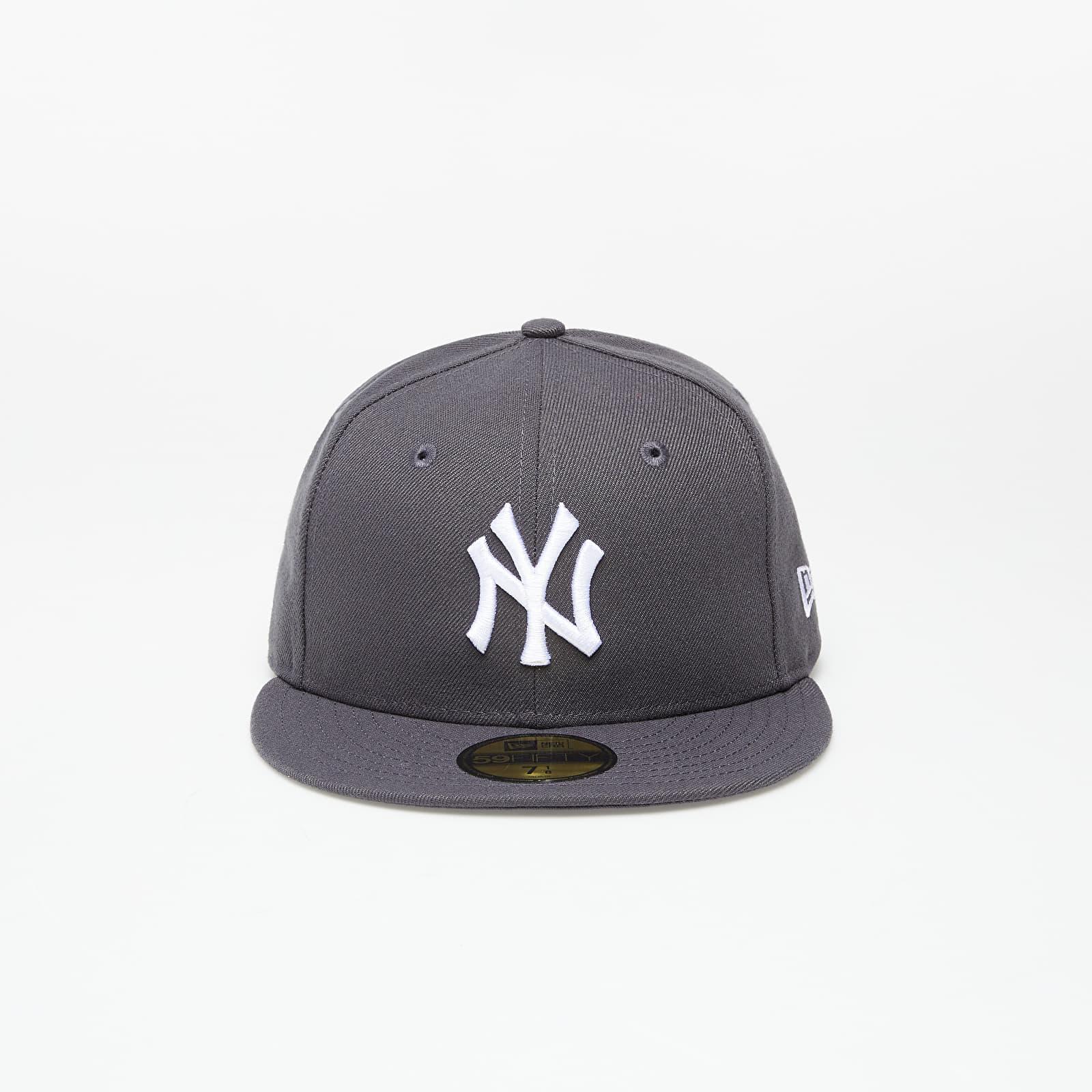 New Era Cap 59Fifty Mlb Basic New York Yankees Graphite/ White 6 7/8