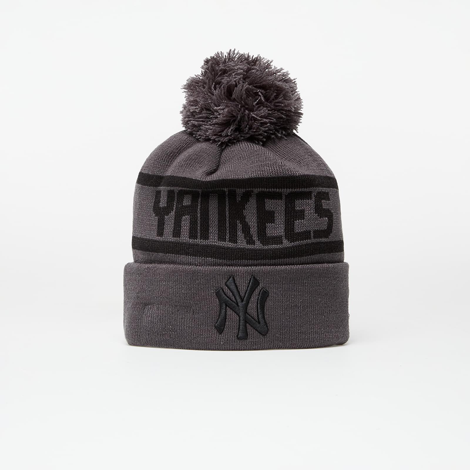 New Era Beanie Mlb Team Jake Bobble Cuff Knit New York Yankees Grey EUR