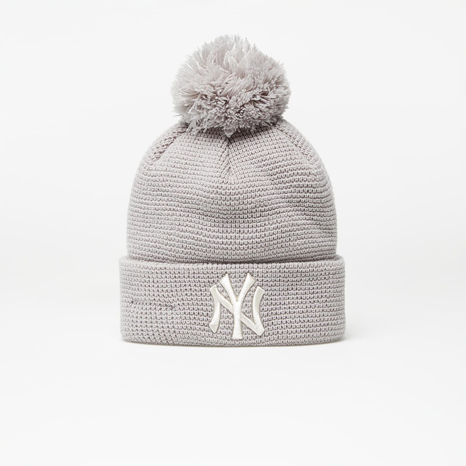 New Era Beanie Mlb Wmns Bobble Cuff Knit New York Yankees Grey EUR