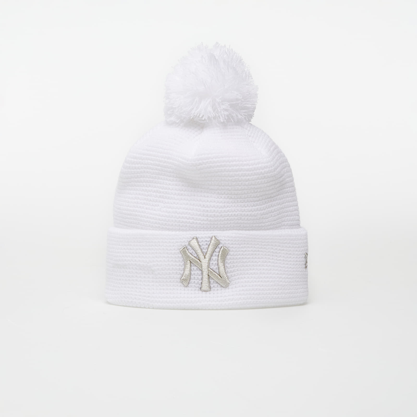 New Era Beanie Mlb Wmns Bobble Cuff Knit New York Yankees White EUR
