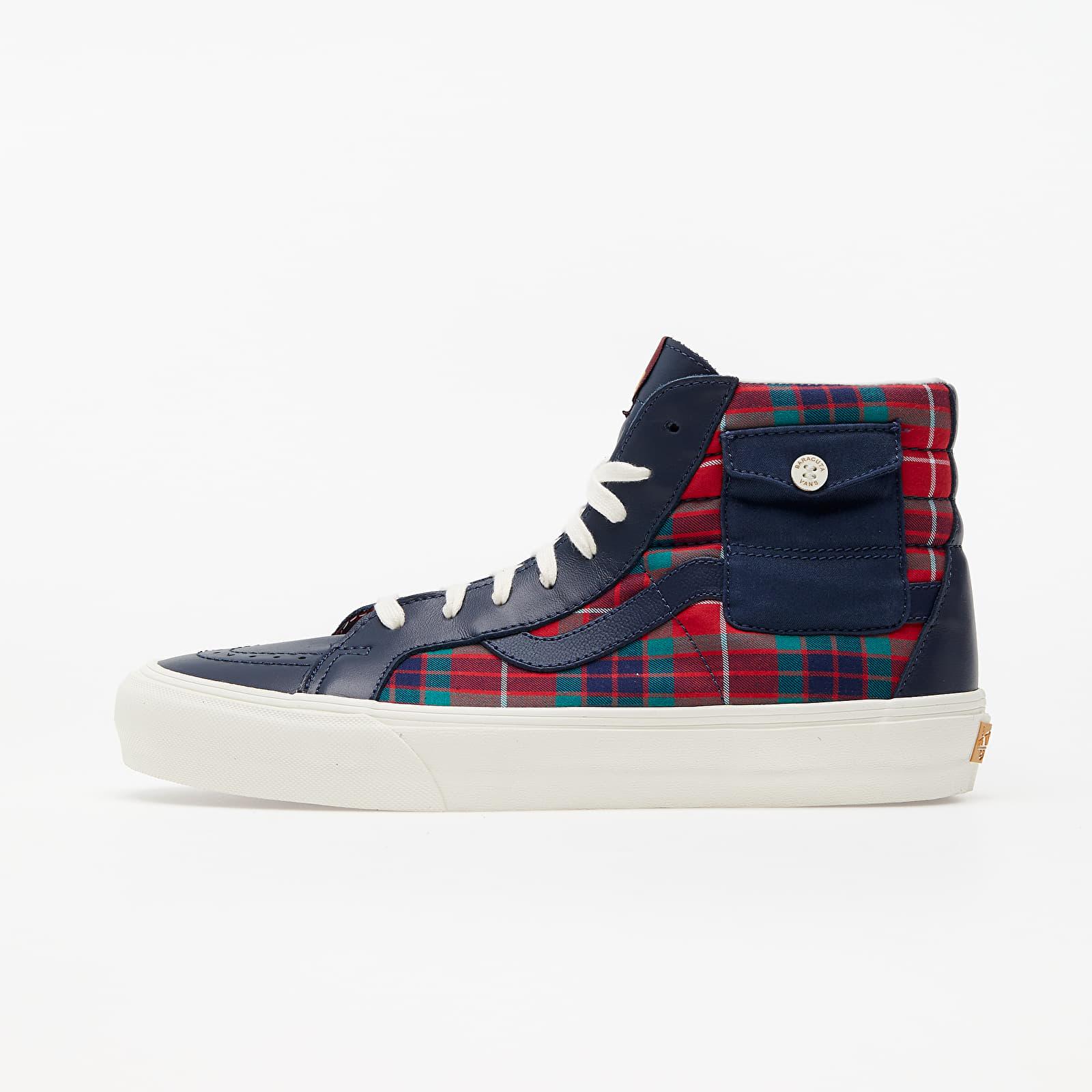 Încălțăminte și sneakerși pentru bărbați Vans x Baracuta Sk8-Hi Pocket VLT LX Dress Blues/ Tartan Plaid/ Marshmallow