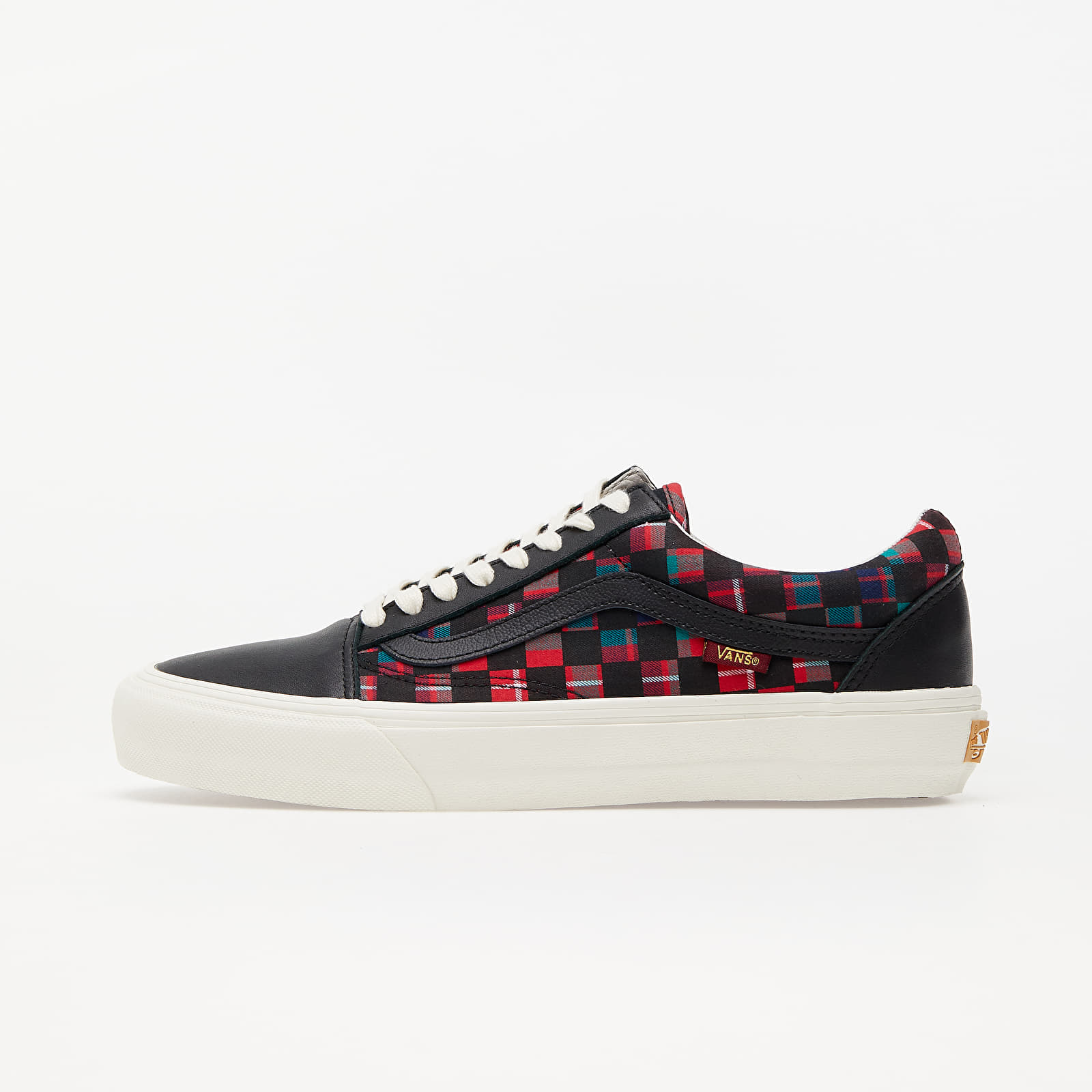 Încălțăminte și sneakerși pentru bărbați Vans x Baracuta Old Skool VLT LX Black/ Tartan Plaid/ Marshmallow