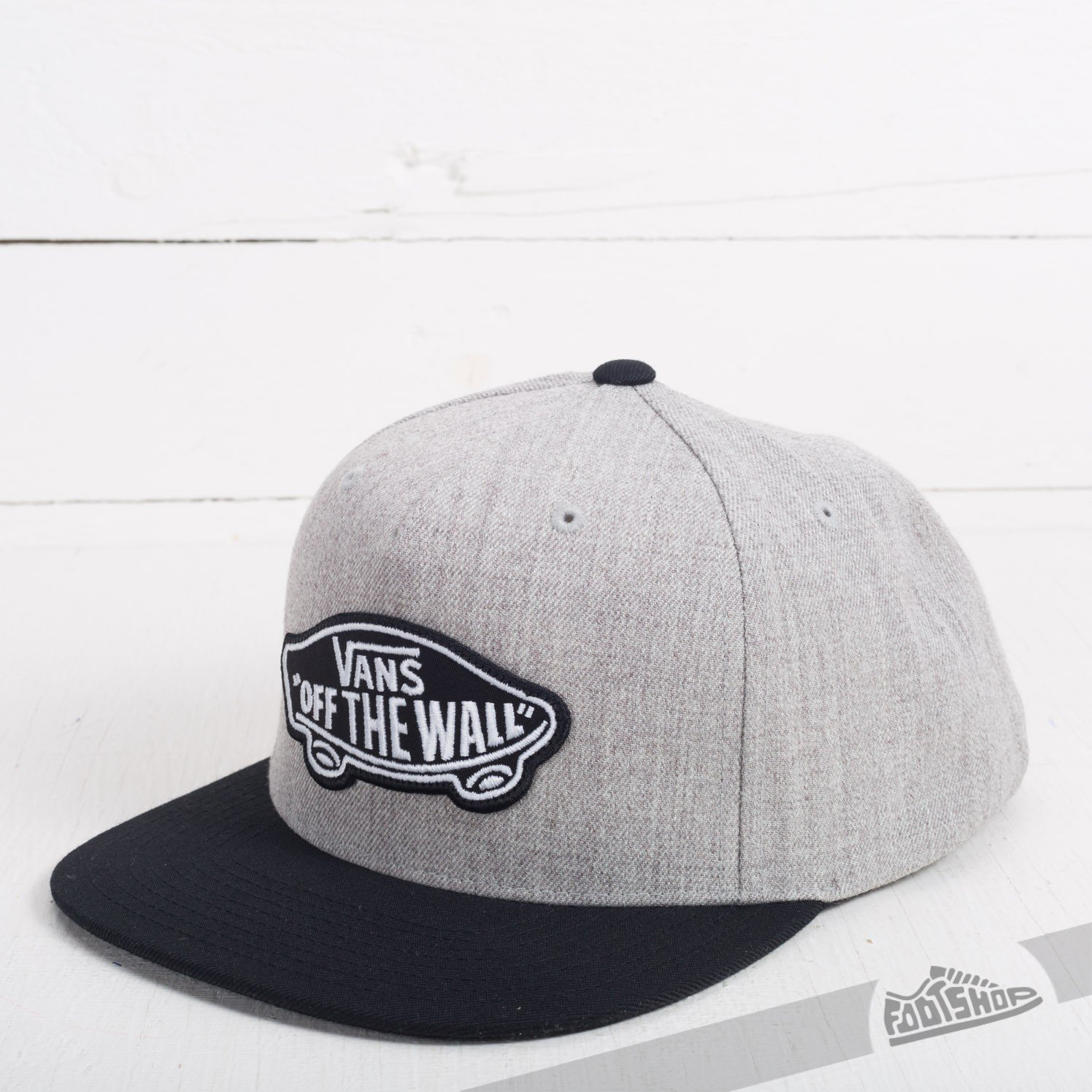 23e7f9eac Vans Classic Patch Snapback Heather Grey/ Black | Footshop