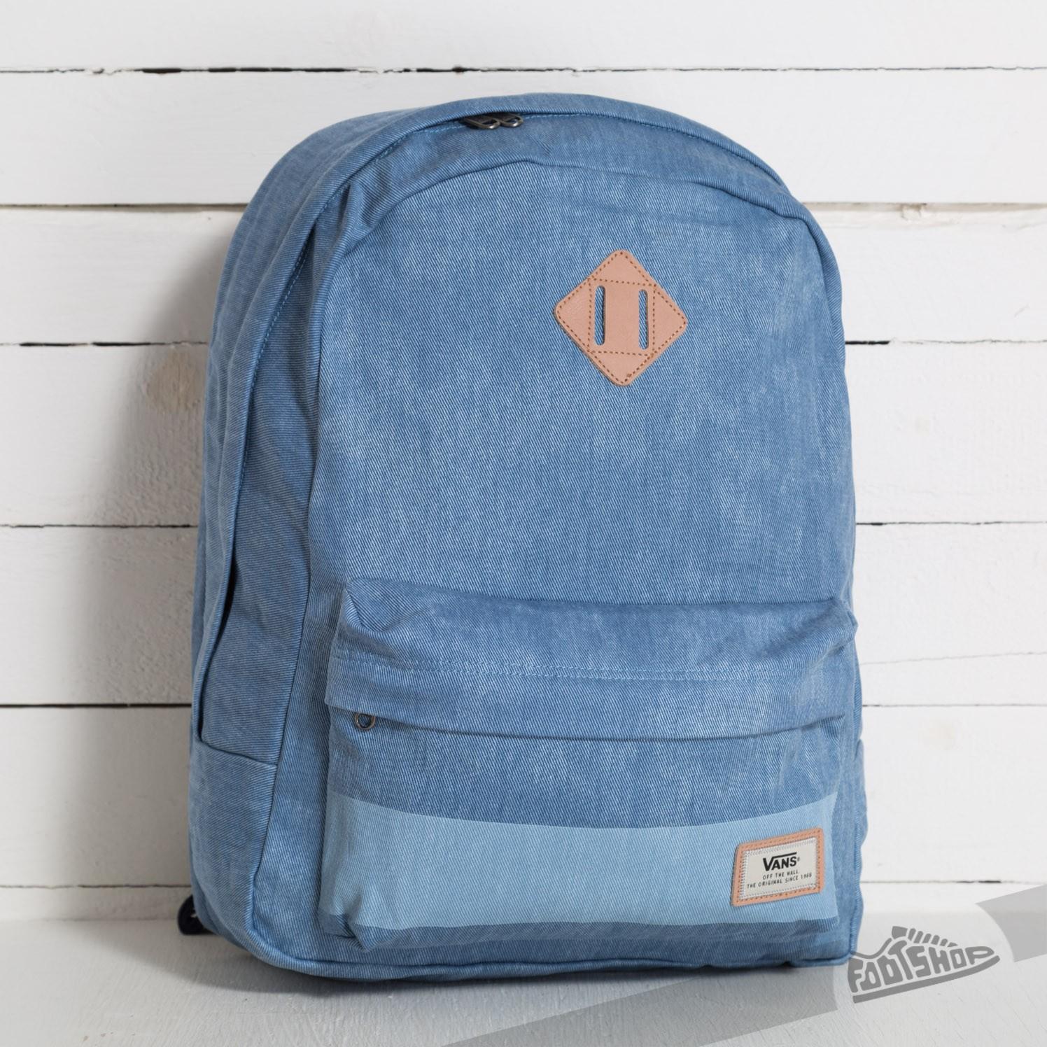 f74fd3cb6ba Vans Old Skool Plus Backpack Bleached Indigo