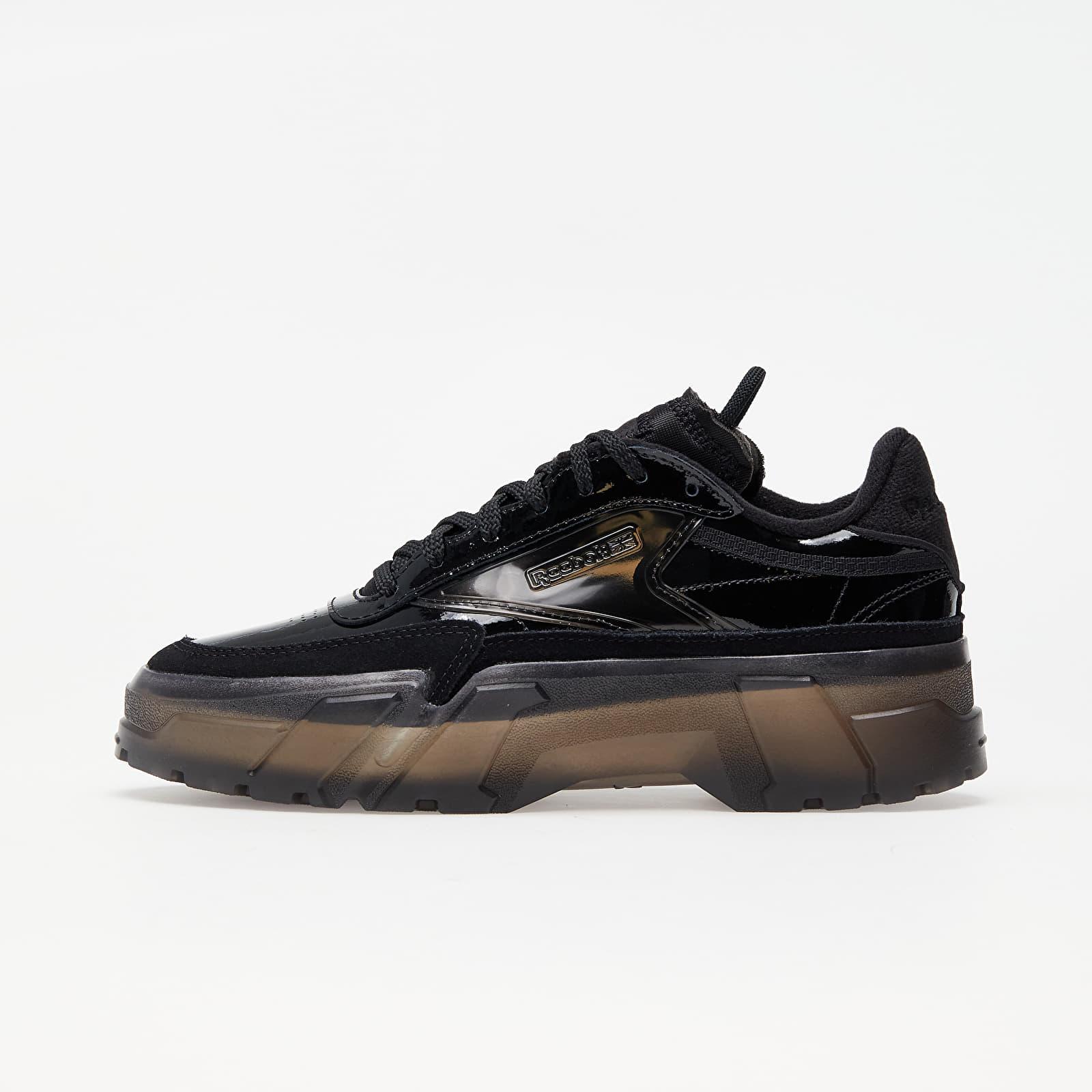 Încălțăminte și sneakerși pentru femei Reebok x Cardi B Club C Core Black/ Core Black/ Clear