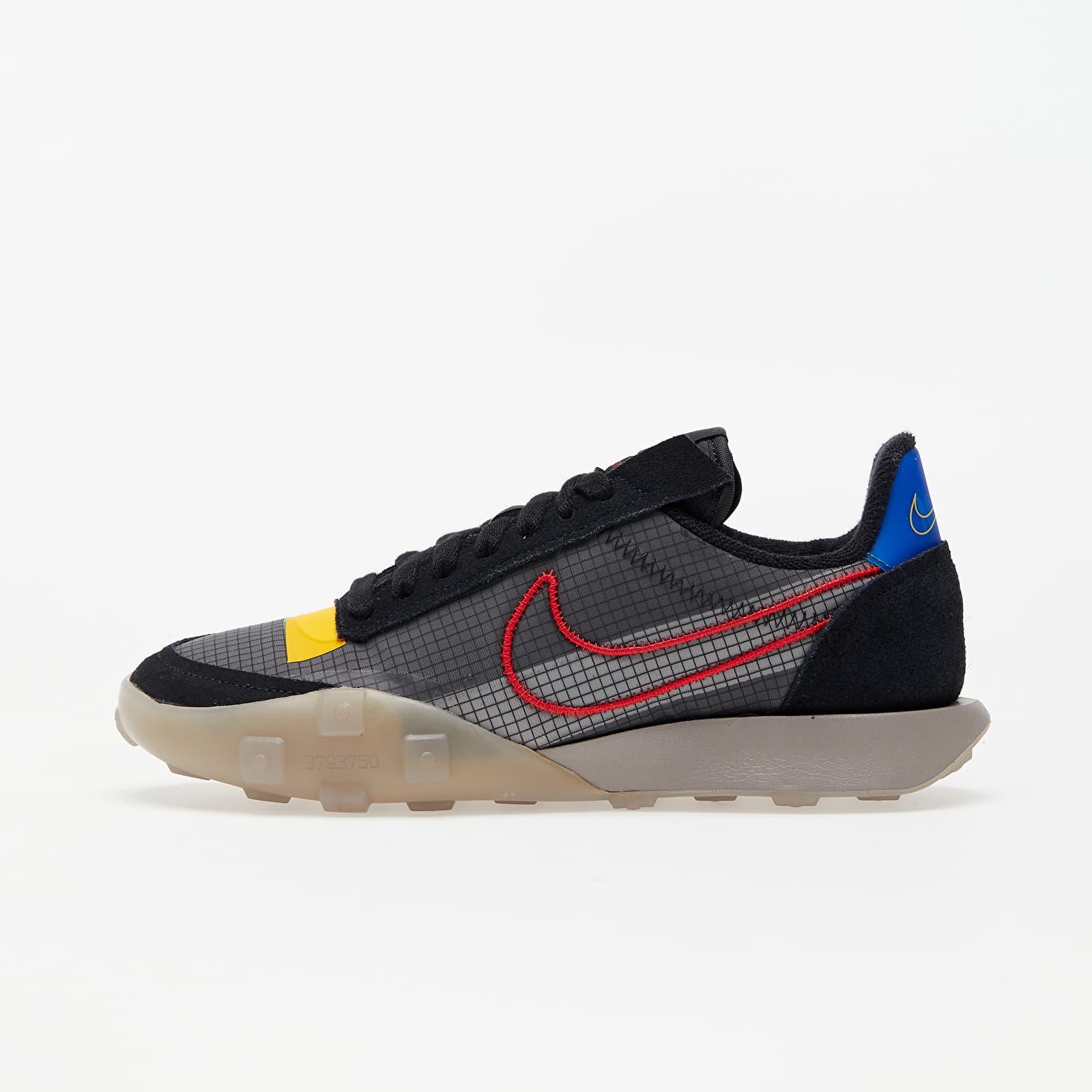 Încălțăminte și sneakerși pentru femei Nike W Waffle Racer 2X Black/ University Red-Enigma Stone