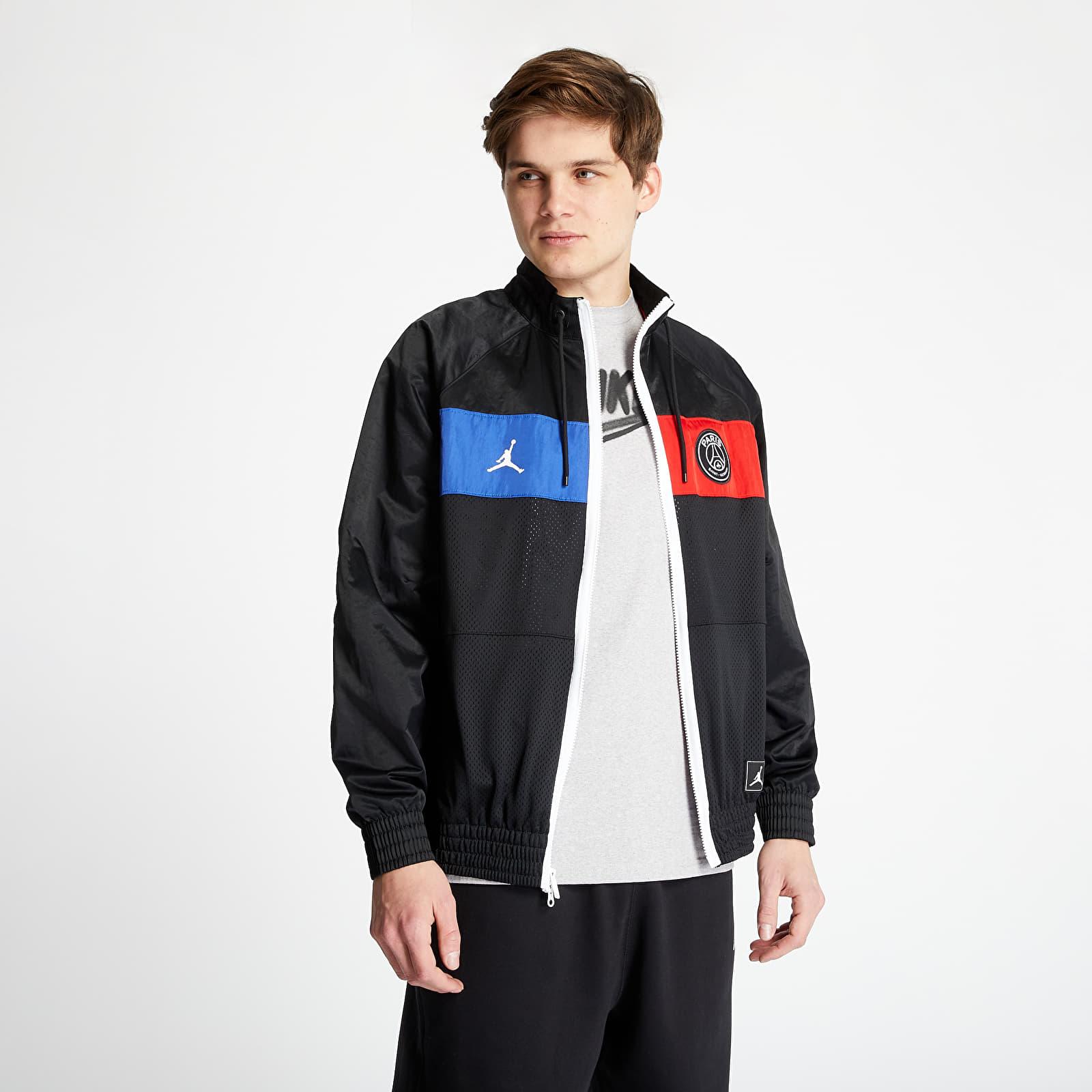 Dzsekik Jordan Paris Saint-Germain Air Jordan Suit Jacket Black/ Game Royal/ University Red