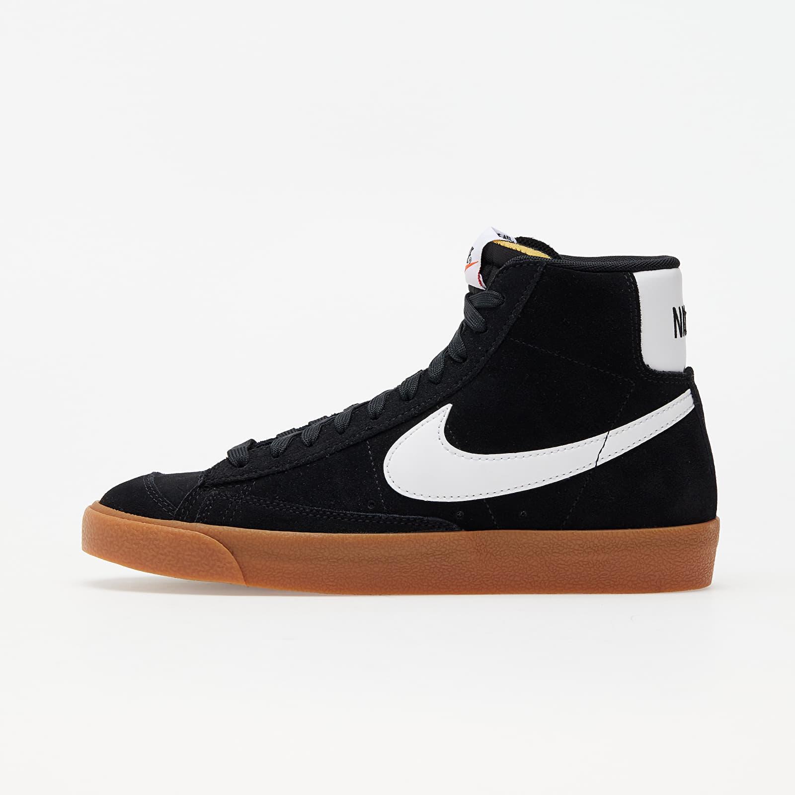 Nike W Blazer Mid '77 Suede Black/ White-Gum Med Brown-Total Orange EUR 40.5