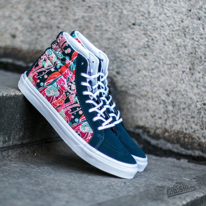 6069f5733856a8 Vans Sk8-Hi Slim Liberty Sea Floral  True White