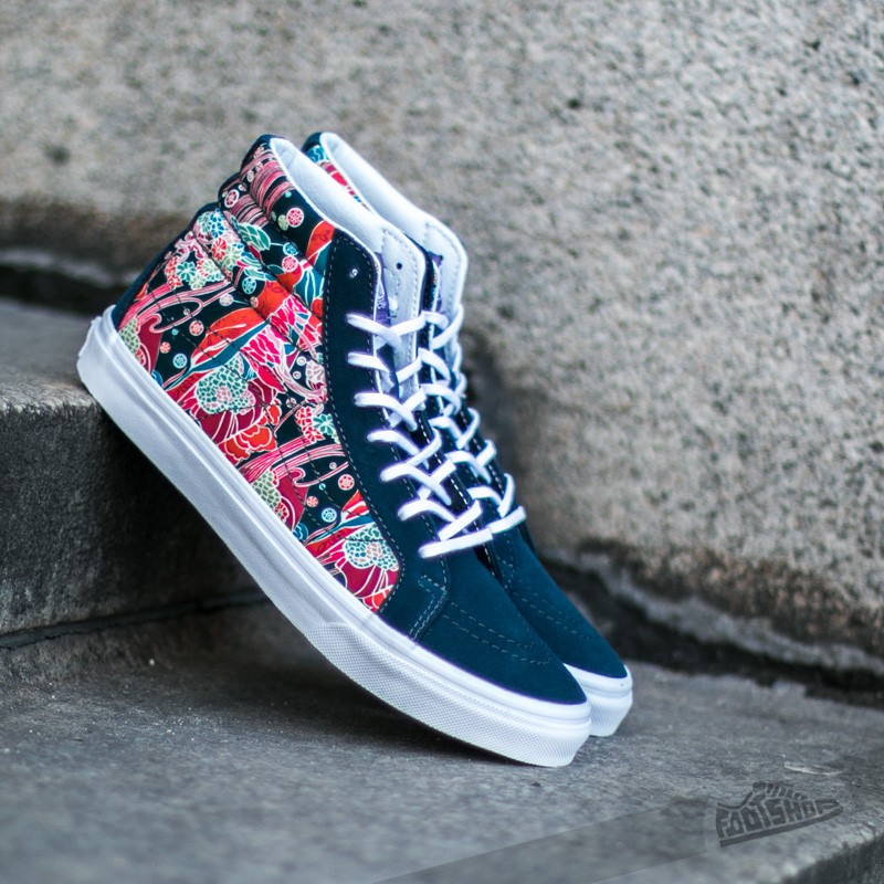 4113f90687d313 Vans Sk8-Hi Slim Liberty Sea Floral  True White