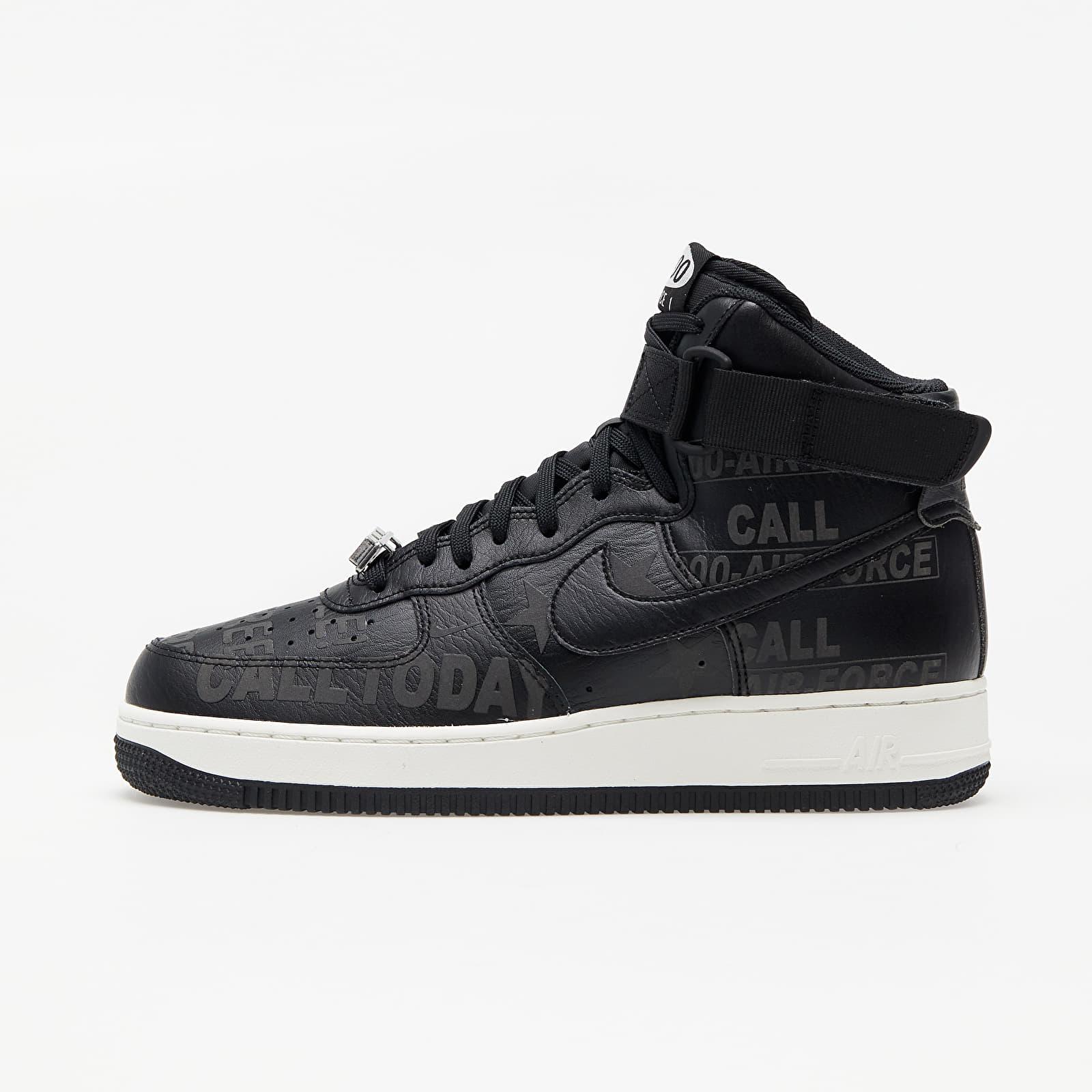Pánské tenisky a boty Nike Air Force 1 High '07 Premium Black/ Black-Sail-Vast Grey