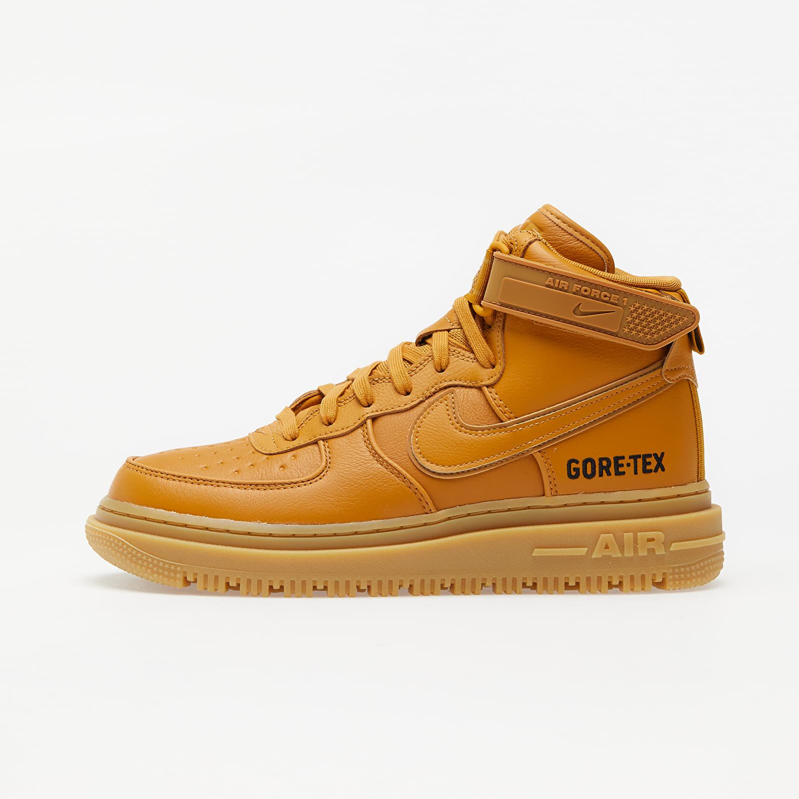 Pánské tenisky a boty Nike Air Force 1 Gtx Boot Flax/ Flax-Wheat-Gum Light Brown