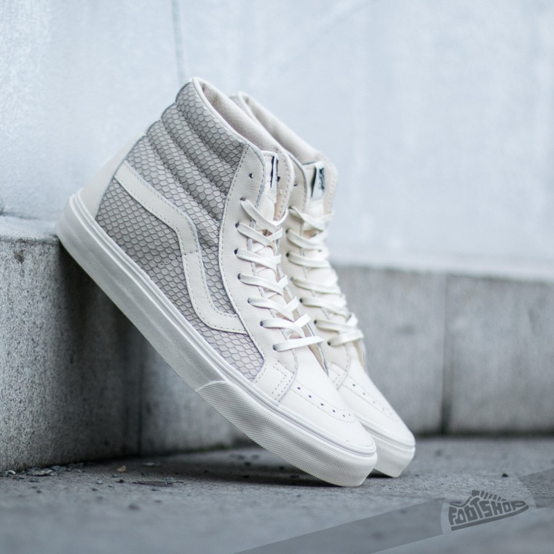 9454b40e14 Vans Sk8-Hi Reissue + (Snake Leather) Antique White