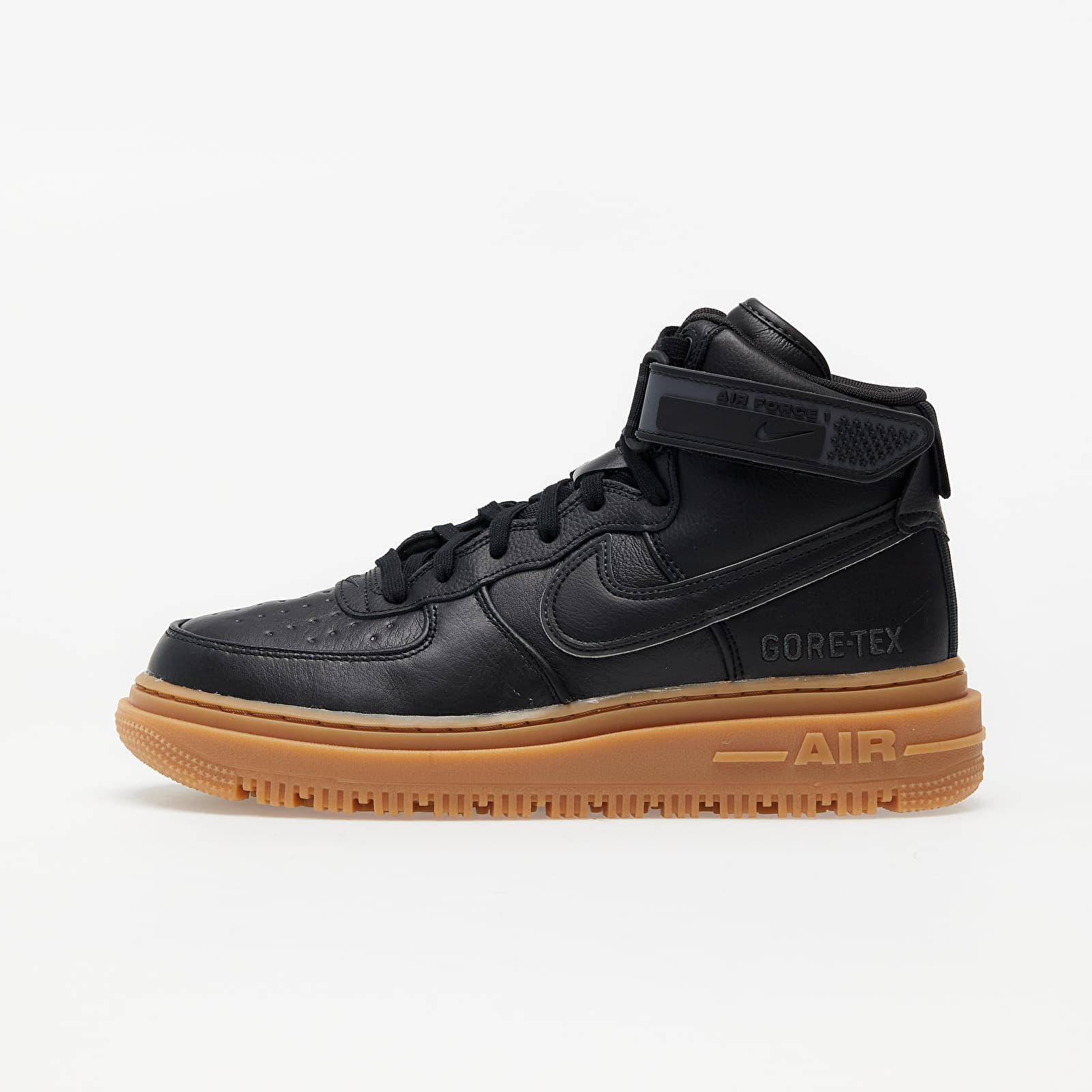 Pánske tenisky a topánky Nike Air Force 1 Gore-Tex Boot Black/ Black-Anthracite-Gum Med Brown