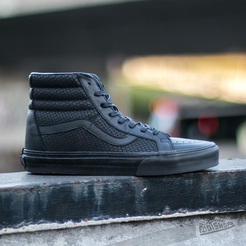 6fee3f78d2a9 Vans Sk8-Hi Reissue Snake Leather Black | Footshop