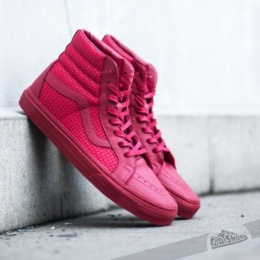 Vans Sk8-Hi Reissue Snake Leather Chili Pepper  e1baf1b1806