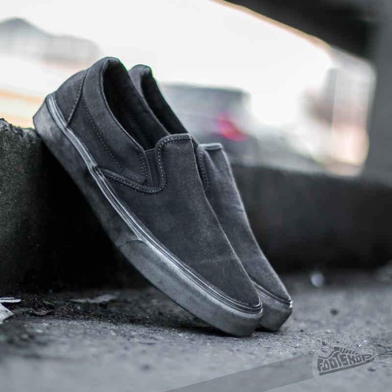 bb6b1f9155 Vans Classic Slip-On + (Overwash Paisley) Black