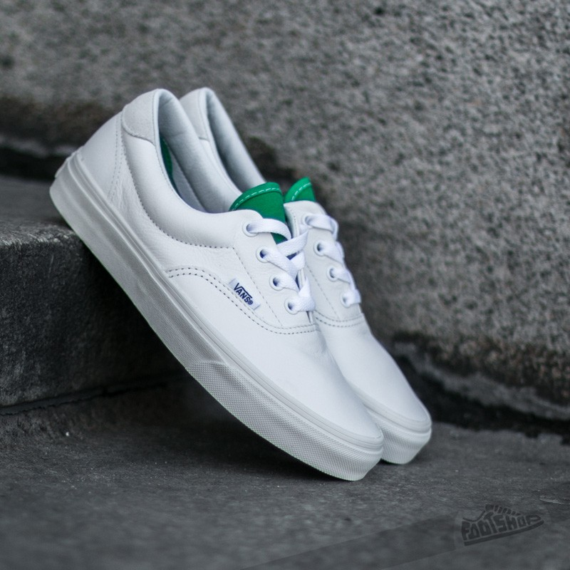 efc82c19bfbdf7 Vans Era 59 (Vintage Sport) True White  Kelly Green