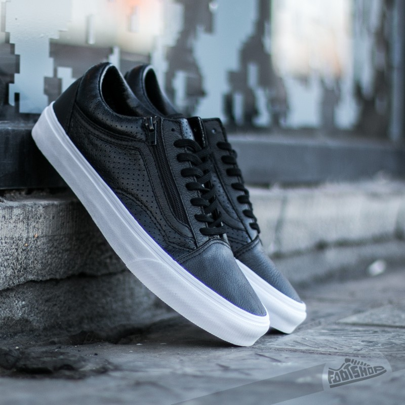 9e69b16e61b Vans Old Skool Zip (Perf Leather) Black