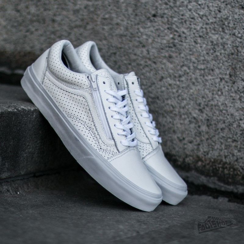 Vans Old Skool Zip (Perf Leather) True White  575754f43869