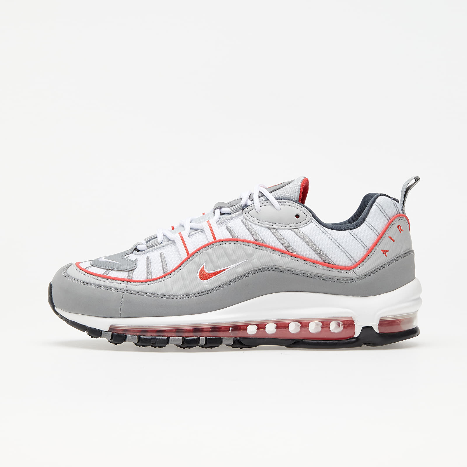 Nike Air Max 98 Particle Grey/ Track Red-Iron Grey | Footshop