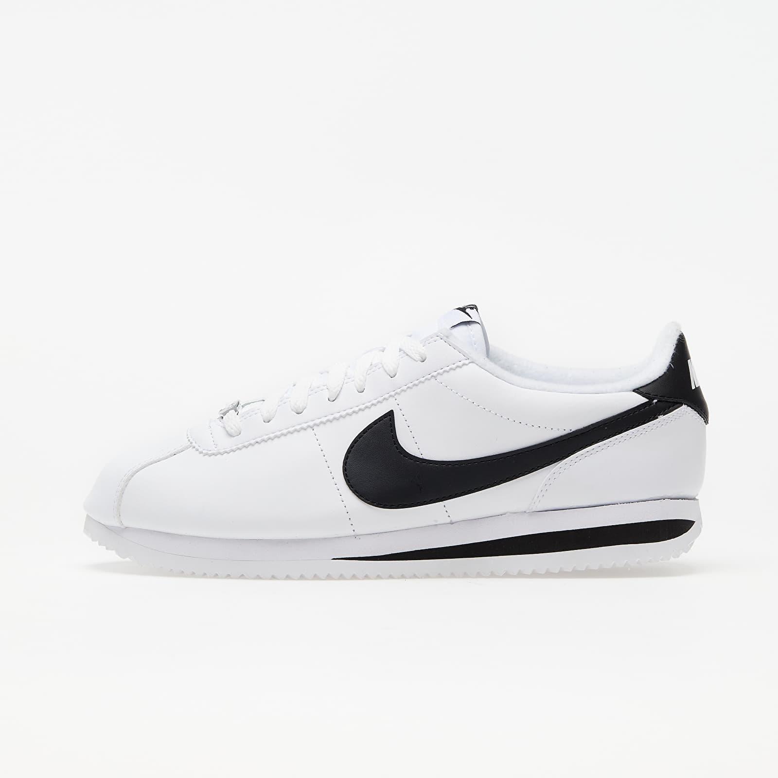 Zapatillas Hombre Nike Cortez Basic Leather White/ Black-Metallic Silver
