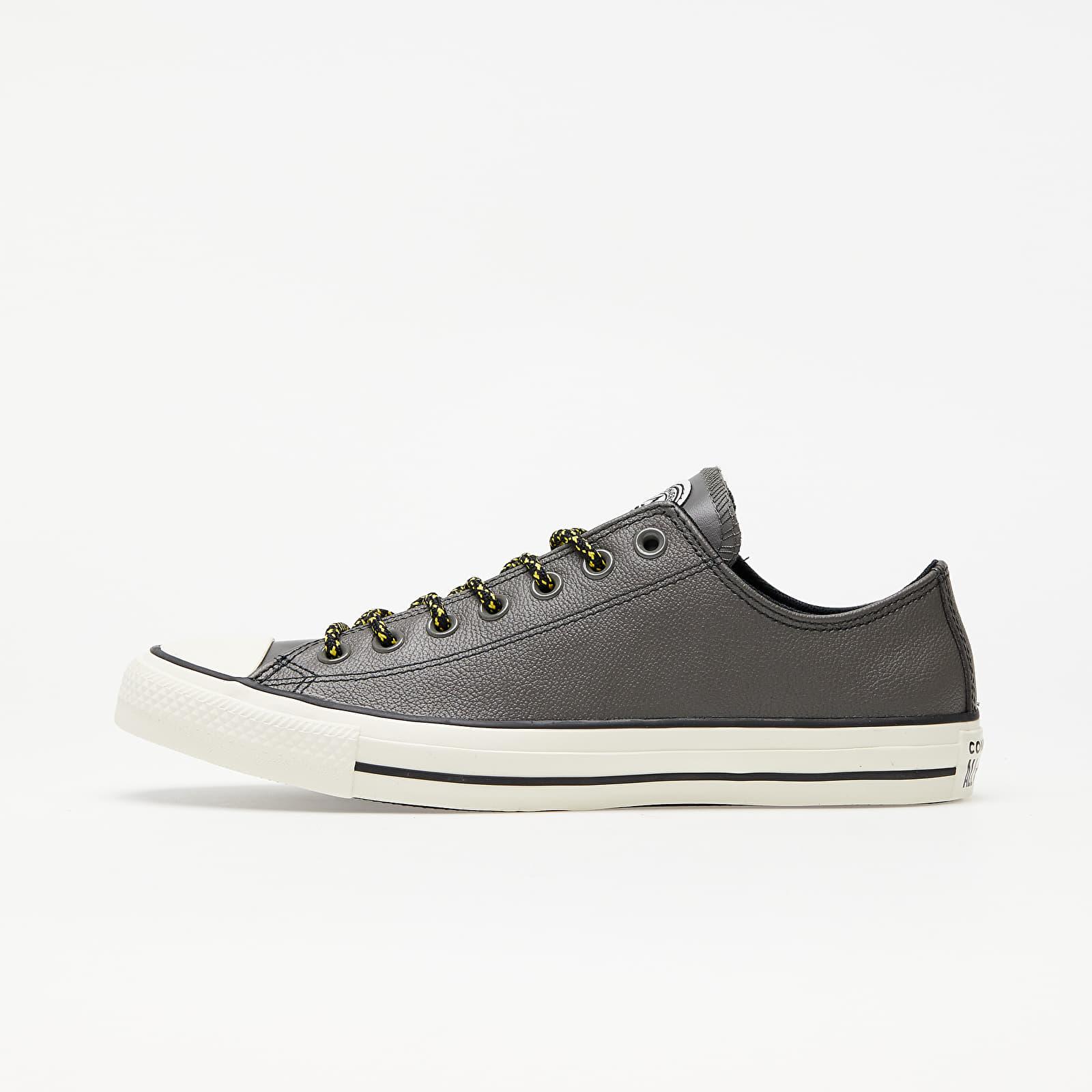 Ανδρικά παπούτσια Converse Chuck Taylor All Star Archival Leather Carbon Grey/ Vivid Sulfur/ Egret