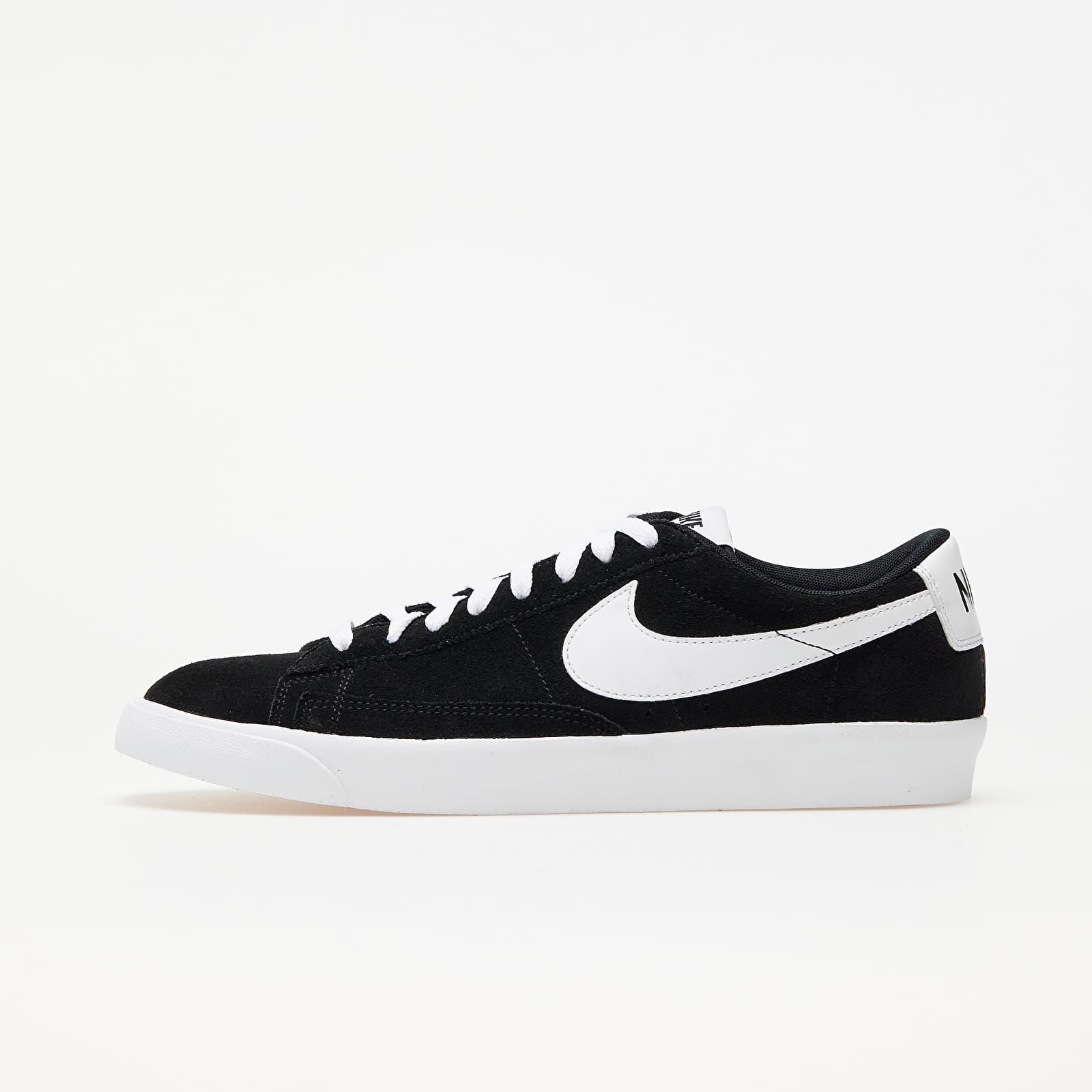 Nike Blazer Low Premium Vntg Suede Black/ White   Footshop