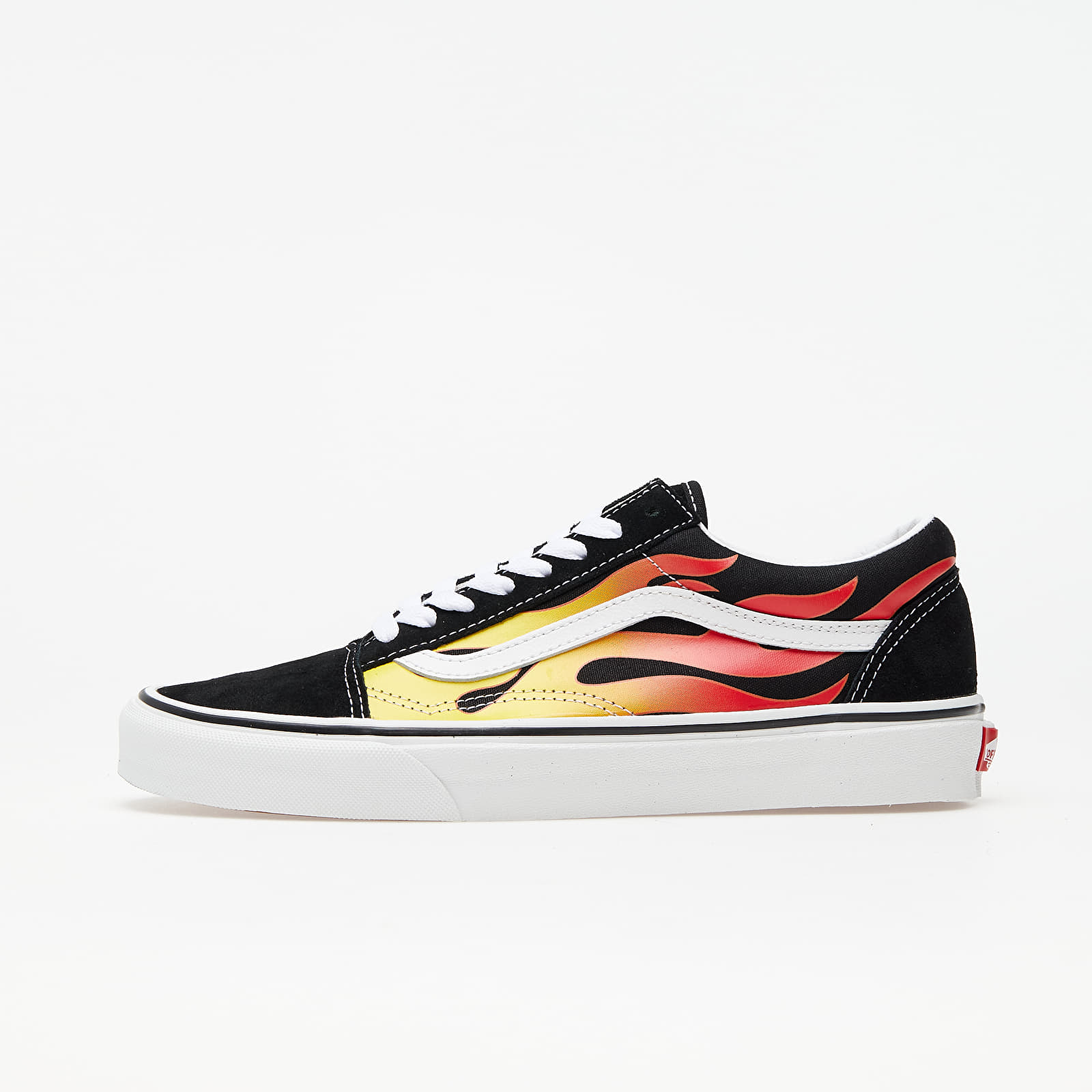 Männer Vans Old Skool (Flame) Black/ Black/ True White