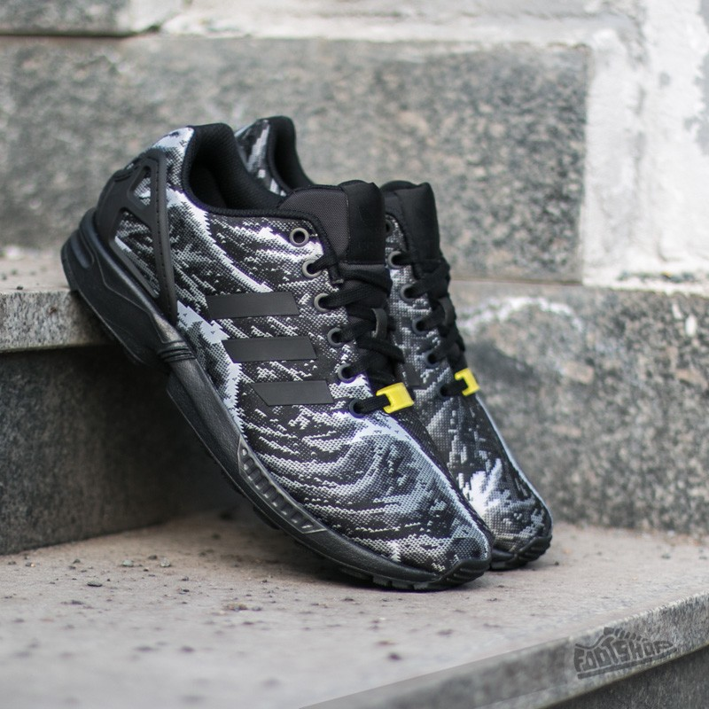 reputable site d2722 75f9d adidas Zx Flux Weave Core Black  Core Black  Bright Yellow