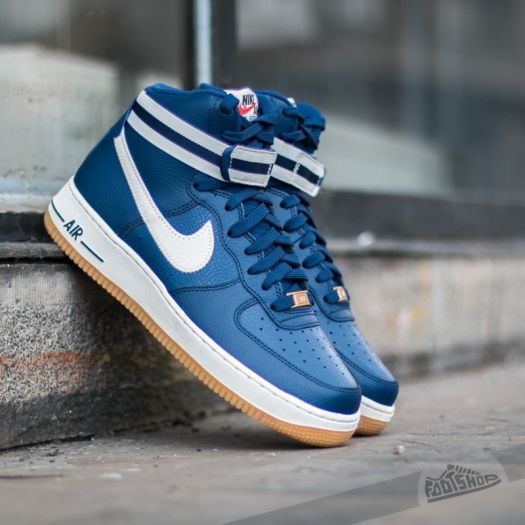 half off 39930 ecf4d Nike Air Force 1 High ´07 Castle Blue/ Gum Light Brown- Wolf ...