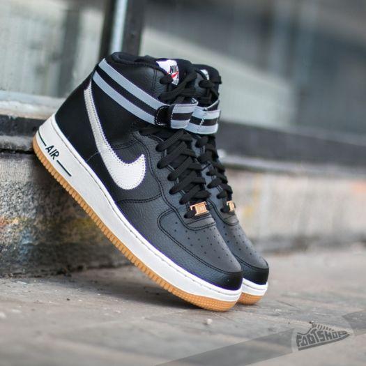 sports shoes 88094 5f785 Nike Air Force 1 High ´07 Black/ Silver-Wolf Grey-Gum Light ...