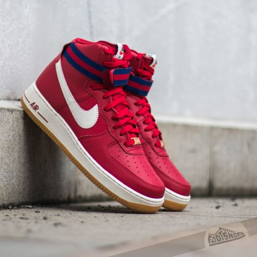 nike air force 1 high 07 gym red