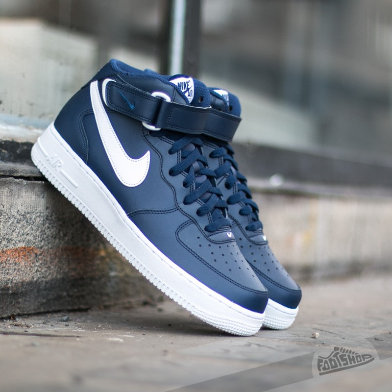 d29c66588ea Nike Air Force 1 Mid ´07 Midnight Navy  White-White