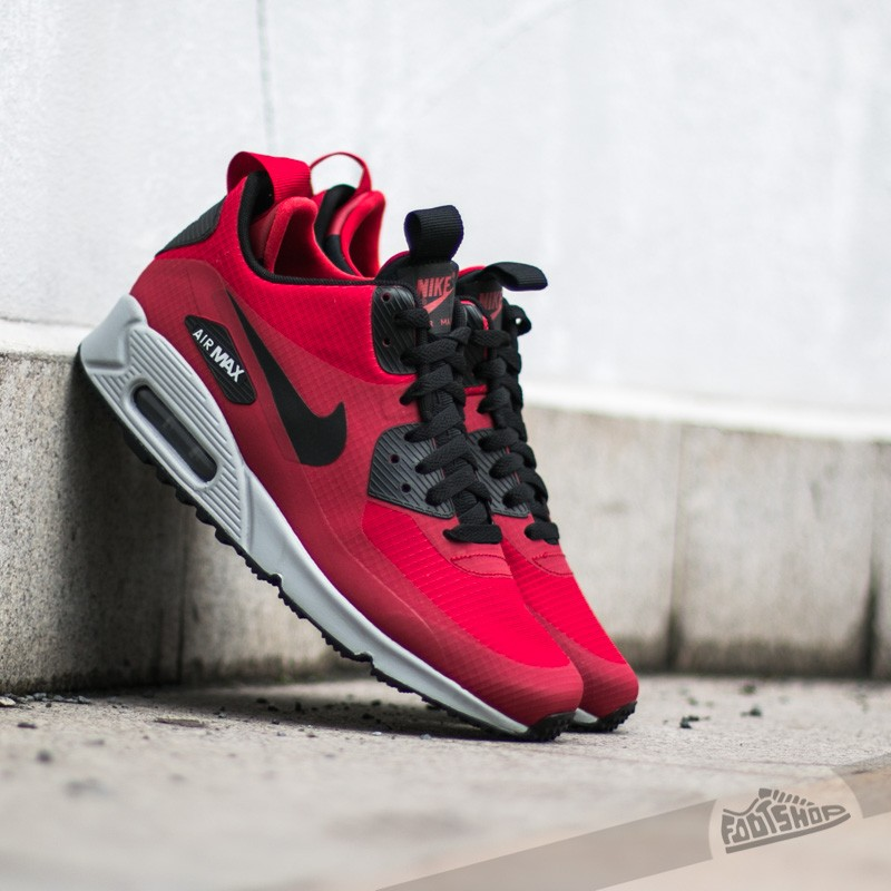 more photos 5d039 b3dee Nike Air Max 90 Mid Winter Gym Red Black-Wolf Grey