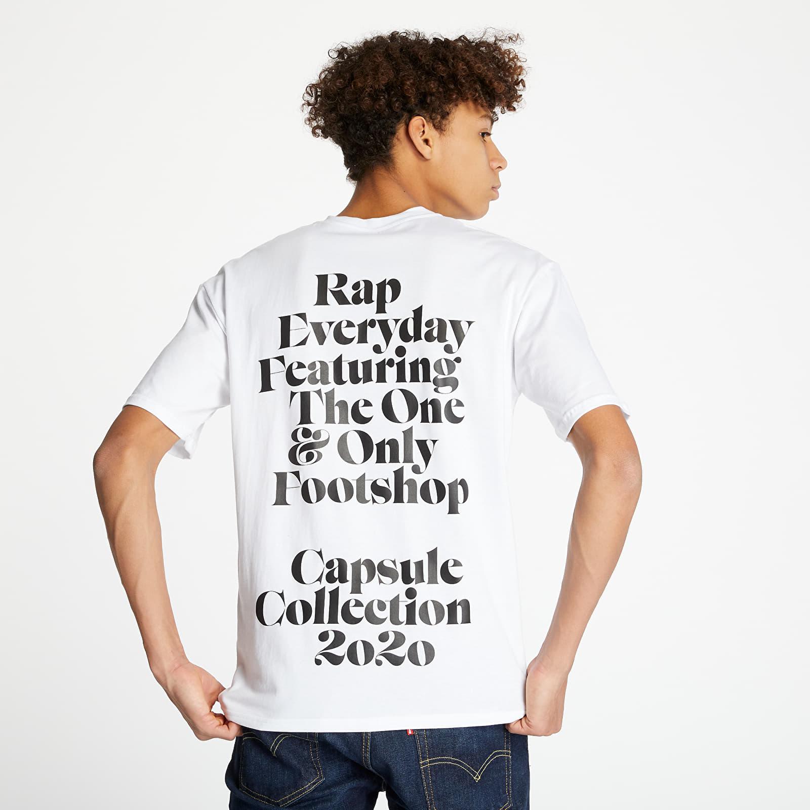 Trička RAP x Footshop Definition Tee White