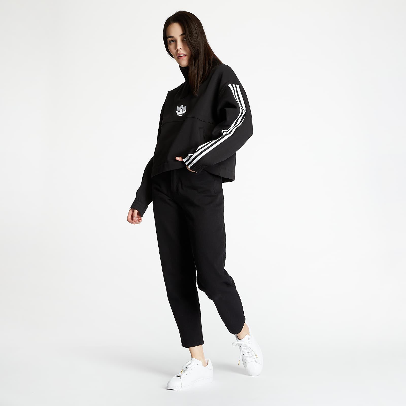 adidas Fleece Over-The-Head Sweatshirt Black S/34