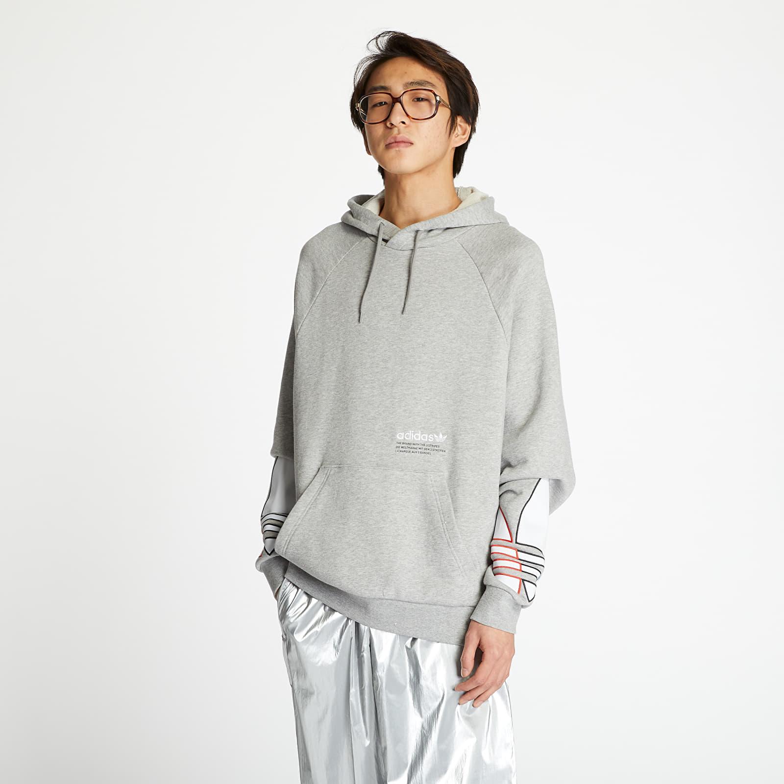 adidas Tricolor Trefoil Hoodie Medium Grey Heather EUR XXL