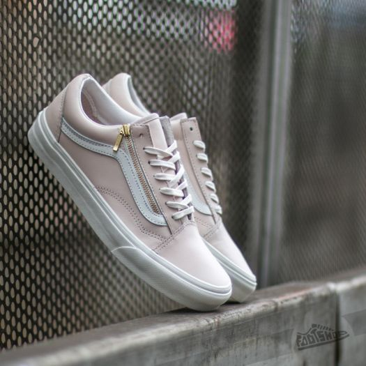 Vans Old Skool Zip Leather White Spring Powter/ Blanc De Blanc | Footshop