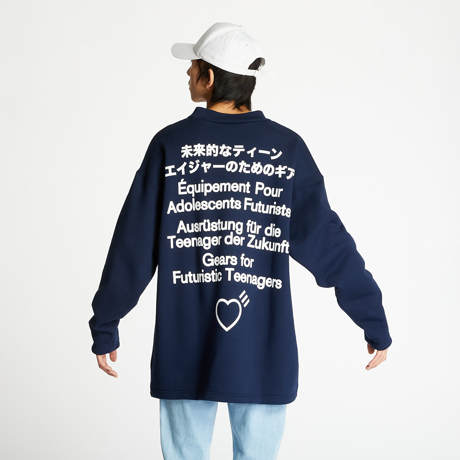 Mikiny adidas Human Made Sweatshirt Collegiate Navy