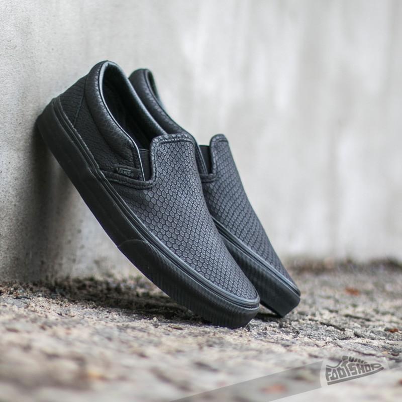 Vans Classic Slip-On + Snake Leather Black  40efcb830