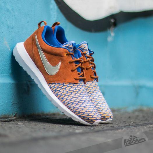 nombre de la marca occidental Empresa  Men's shoes Nike Roshe NM Flyknit PRM Game Royal/ MTLC Gold Grain Tawny