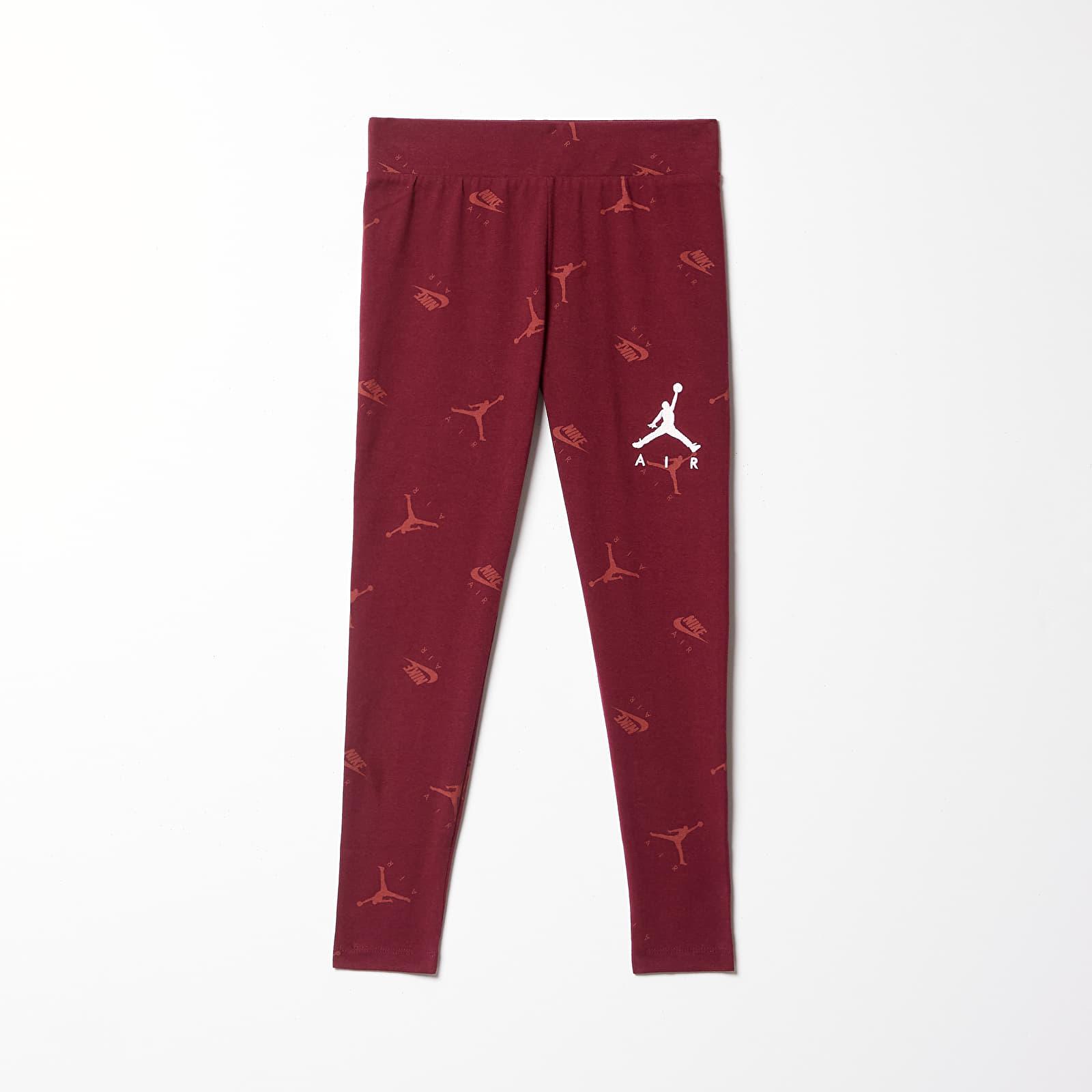 Dětské oblečení Jordan Jdg Jumpman Luxe Court Legging Dark Beetroot