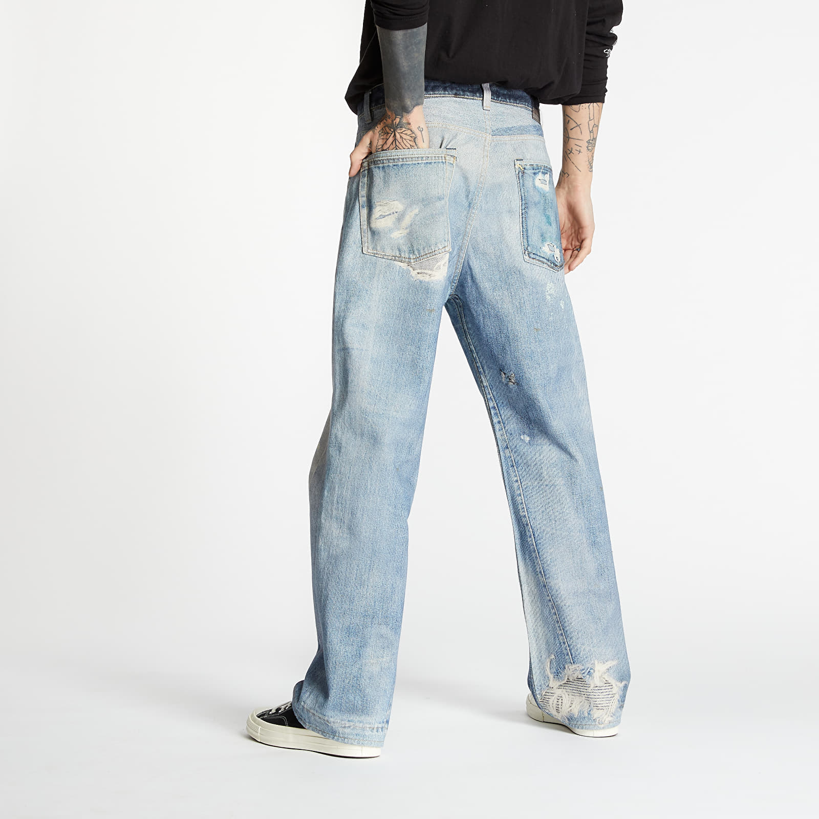 Pants and jeans OUR LEGACY Digital Denim Print Blue