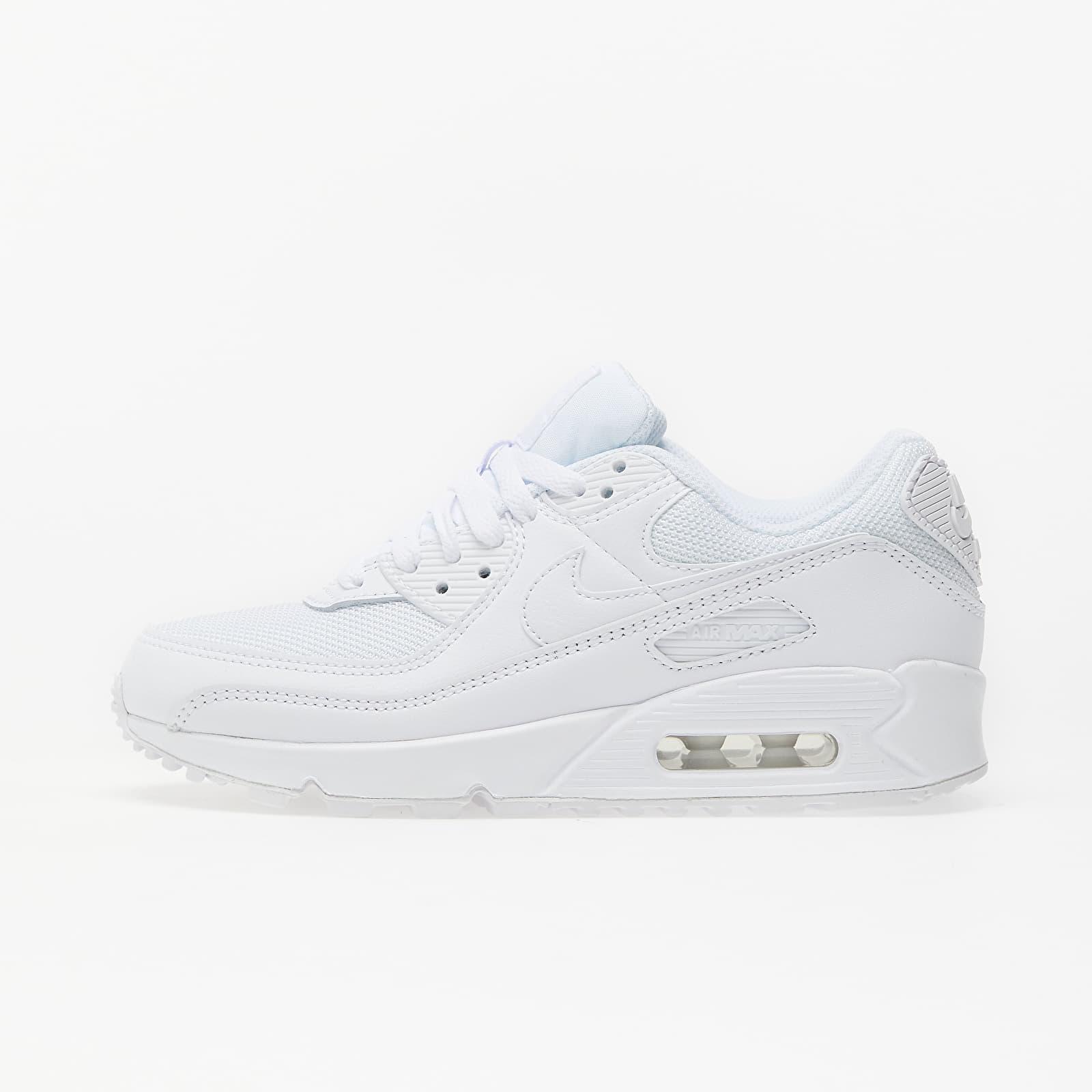 Încălțăminte și sneakerși pentru femei Nike W Air Max 90 White/ White-White-Wolf Grey