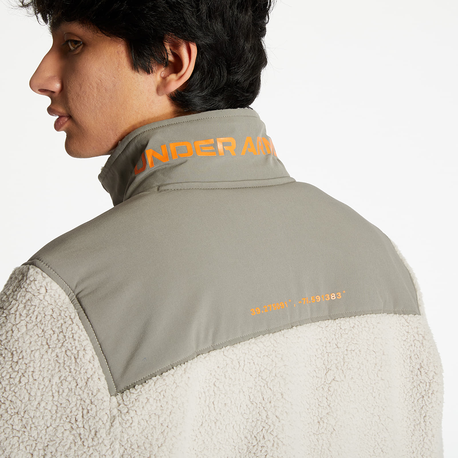 Jackets and Coats Under Armour Legacy Sherpa Swacket Highland Buff/ Brown Umber/ Vibe Orange