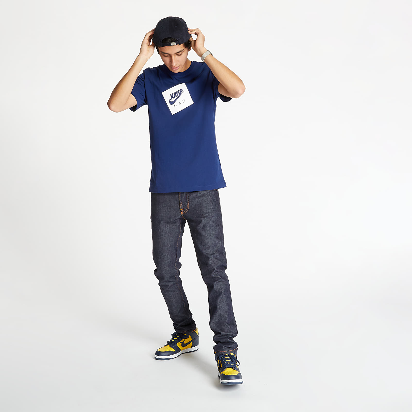 T-Shirts and shirts Jordan Jumpman Box Tee Blue Void/ White