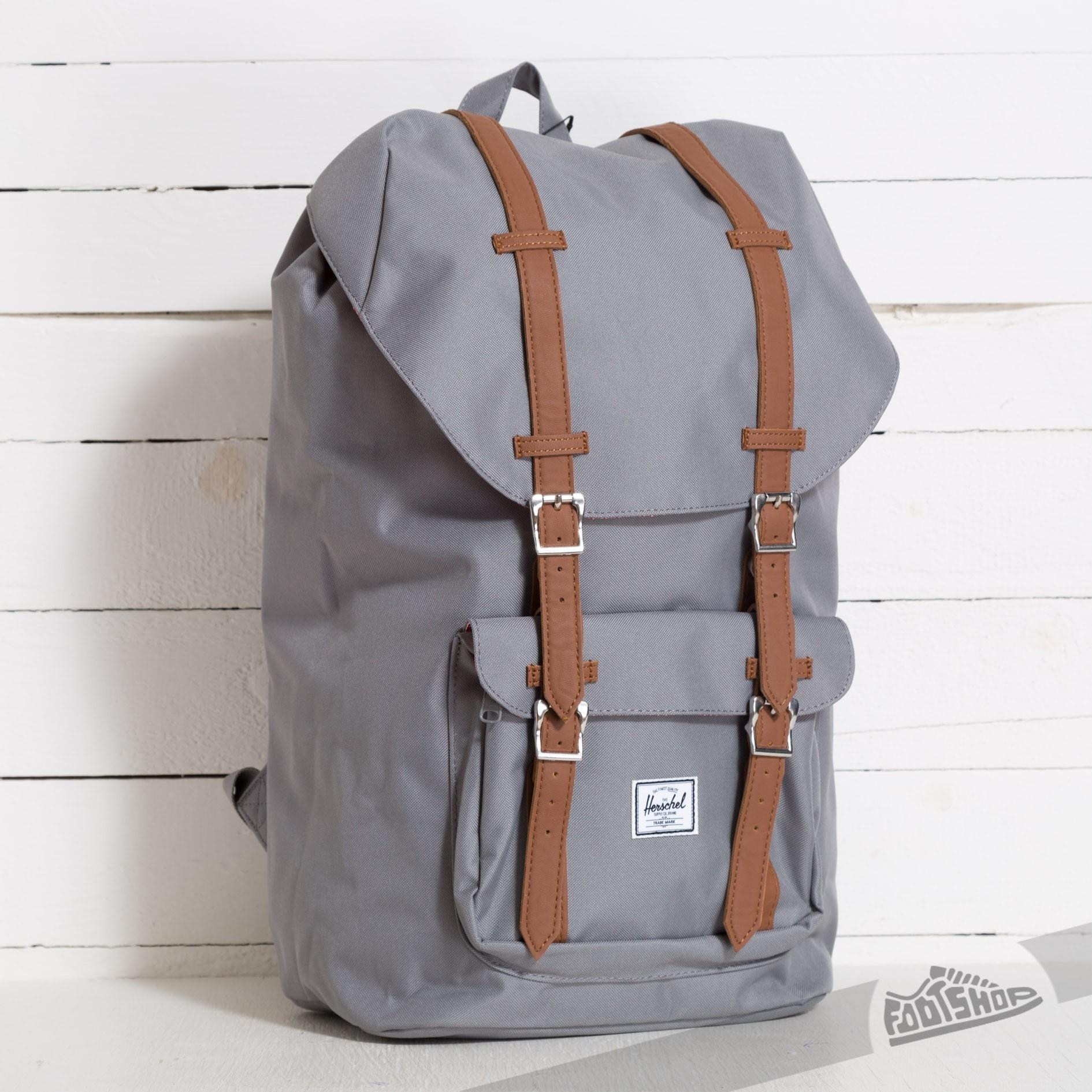 6cd9b349679 Herschel Supply Co. Little America Backpack Grey Tan