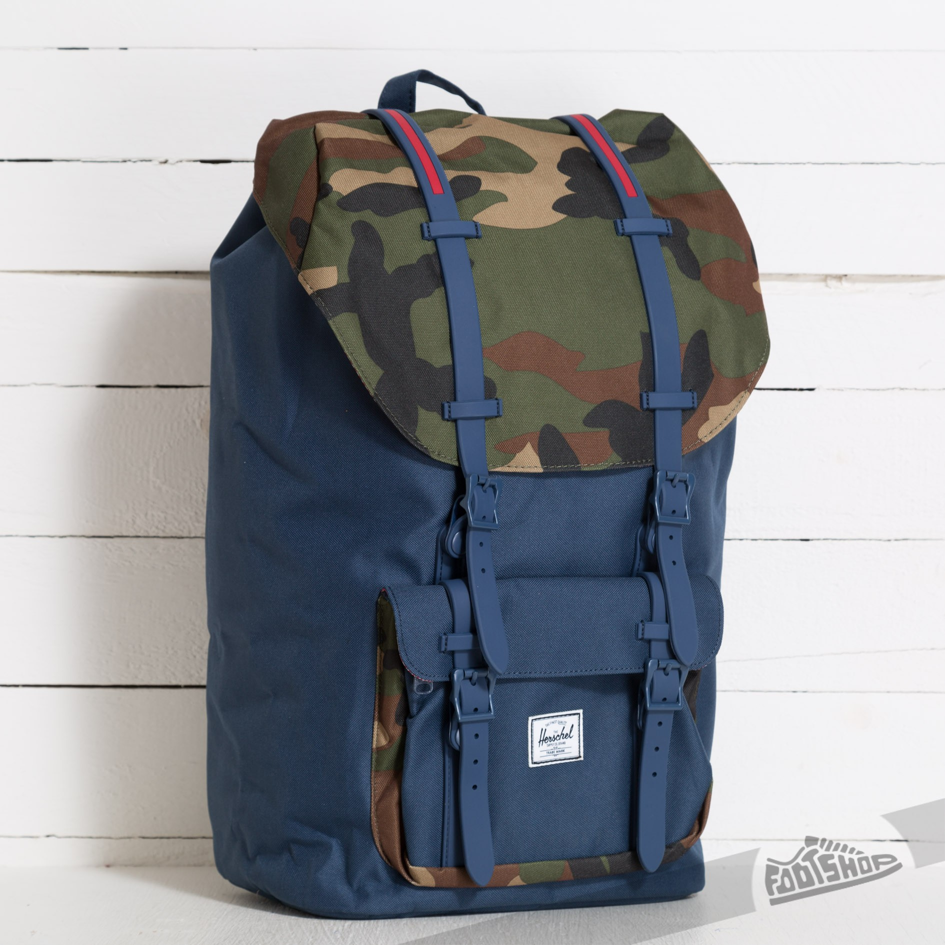 5a2681aeaec Herschel Supply Co. Little America Backpack Navy Woodland Camo ...