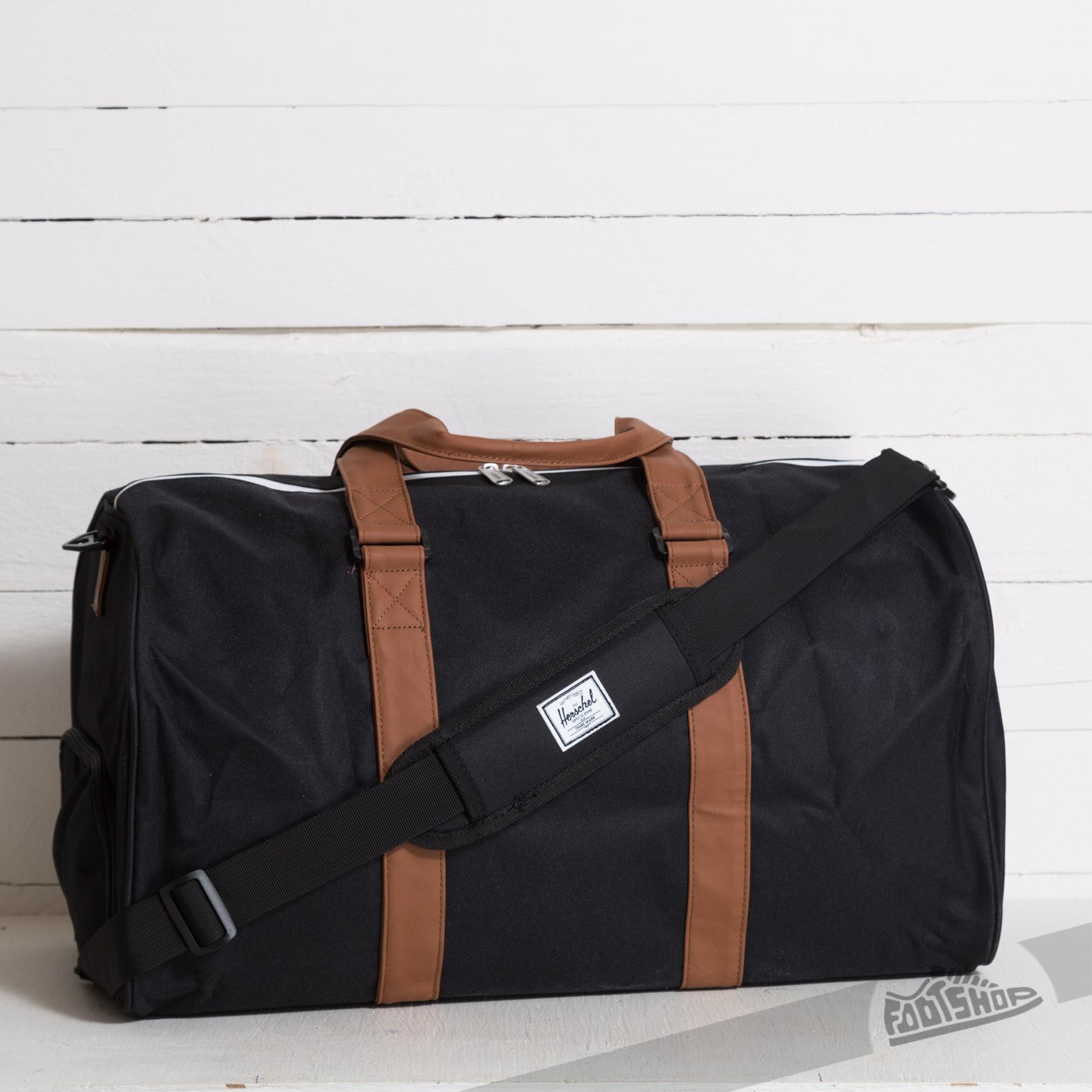 f438d8bb776ec Herschel Supply Co. Novel Duffle Black Tan